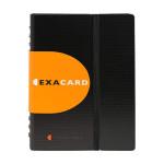Porte-cartes de visite Exacard Capacité 120 cartes 20 x 14,5 cm