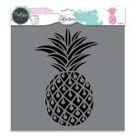 Pochoir textile Ananas - 28 x 28 cm