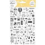 Stampo Planner Carnet de voyage - 81 tampons